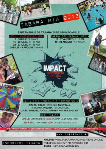 "Tabăra MIA ""Impact"" 2013"