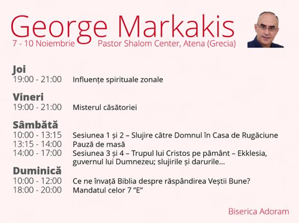 George Markakis la Biserica Crestina Adoram, Arad