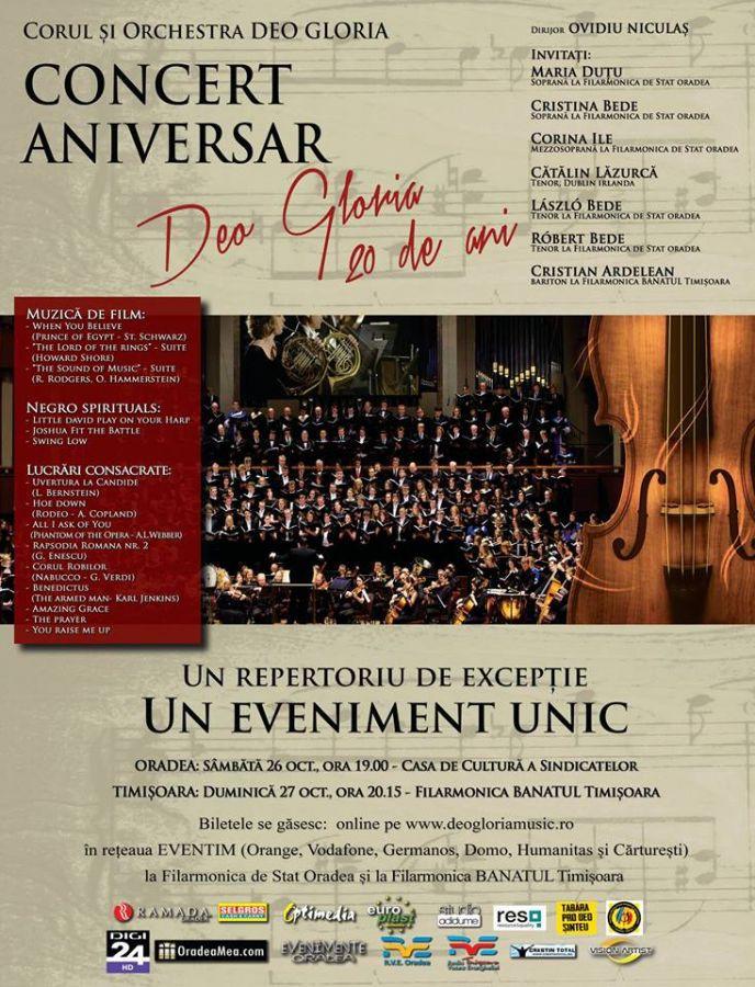 Concert Aniversar – Deo Gloria 20 de ani – Oradea