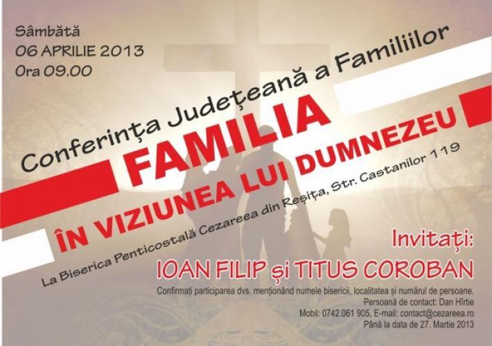 Conferința județeană a familiilor din Caraș-Severin