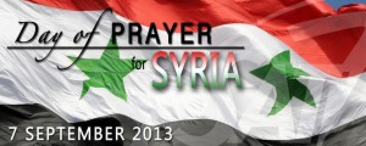 7 septembrie: Zi de rugăciune şi post pentru Siria