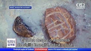 S-au descoperit artefacte rare din vremea lui Ezra | Știre Jerusalem Dateline