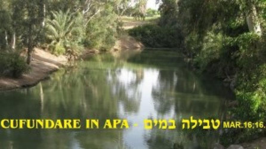 Botez în apă în Comunitatea Evreilor Mesianici din Oradea