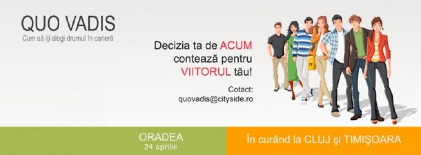 """Trainingul de Orientare Profesională """"Quo Vadis"""" la Oradea"""