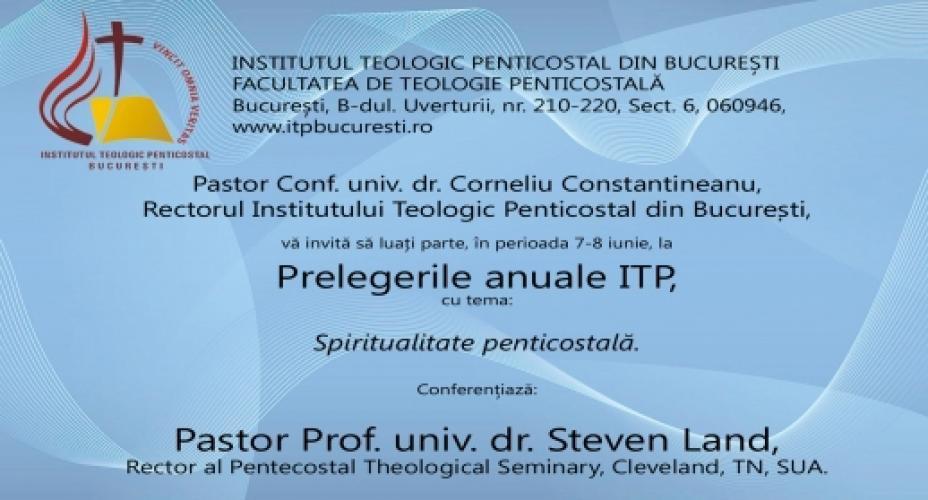 Prelegeri și lansare de carte la ITP București
