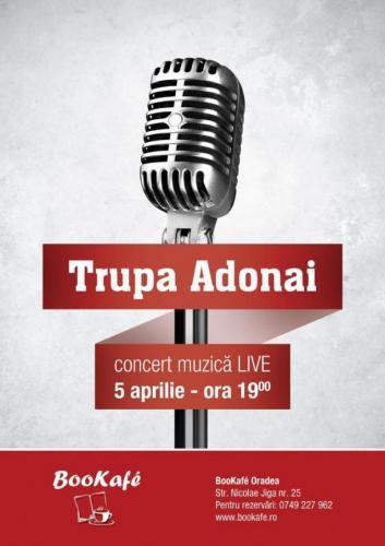 Trupa Adonai – Concert de muzica la Bookafe Oradea