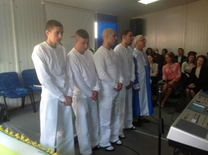 Botezul deținuților din penitenciarul Craiova