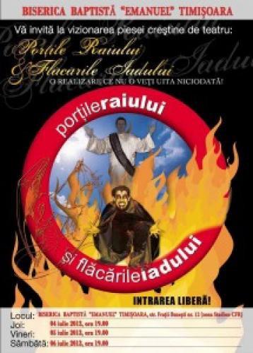 """""""Porțile raiului și flăcările iadului"""" – Biserica Baptistă """"Emanuel"""" Timișoara"""