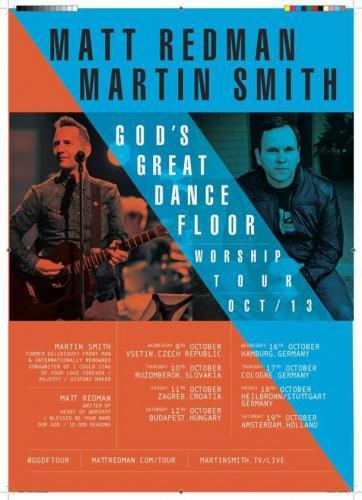Turneu Matt Redman şi Martin Smith în octombrie 2013