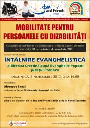 "Intalnire evanghelistica cu misionarii ""Joni and Friends Italia"" la Popesti, Prahova"