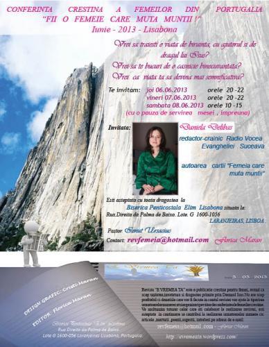 """Conferința femeilor din Portugalia """"Fii o femeie care muta munții"""""""
