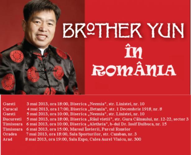 Vizita fratelui Yun în România