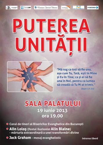 """Conferinţa """"Puterea unității în Cuvânt"""" la Sala Palatului, București"""