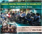 Tabara pentru persoane cu dizabilitati la Sinaia