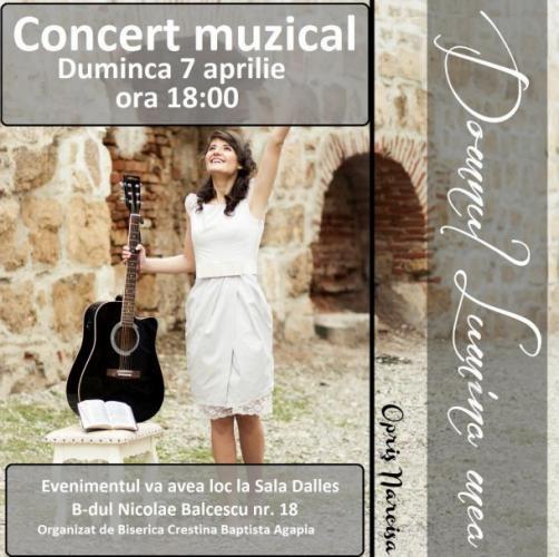 Concert muzical creştin cu Narcisa Opriş – lansare album